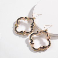люцитовые серьги оптовых-desigler jewerly earrings for women Acrylic leopard print flowers earrings wholesale hot fashion free of shipping
