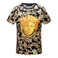 Wholesale Designer Shirts For Women - Luxury brand Long sleeve designer t shirts for men New Autumn embroidery bee Italy T-shirt polo shirt High street medusa t shirt men 16822