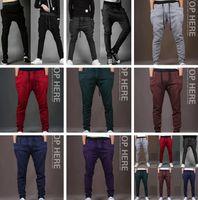 Wholesale home trousers men - New Joggers Fashion Harem Pants Trousers Hip Hop Slim Fit Sweatpants Men for Jogging Dance 8 Colors sport pant home clothing I321