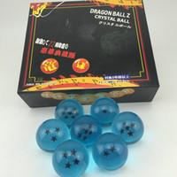 pacotes de brinquedos de novidade venda por atacado-4.2 cm Set Bola De Dragão De 7 Peças / Set Cos Novidade Figuras de Ação Brinquedos Decoração de Casa Presentes de NATAL No Pacote de Varejo WX9-387