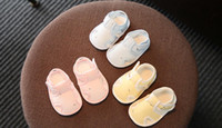 Wholesale toddler baby blue sandals - 2018 New Summer Newborn 0-6 Month Soft bottom Step shoes Men and women Baby Breathable toddler Sandals