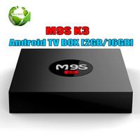 ingrosso caricare il filmato-Android 6.0 TV Box M9S K3 2GB 16 GB Rockchip Smart TV Box add-on caricato 3D Movie 4K Video Streaming lettore multimediale televisivo