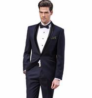 Wholesale Men S Wedding Suit Back - Free shipping men's brand suit Set New style groom business suits men wedding Dress Suit sets, jacket + pants Asia size: S-XXXXXL