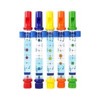 pipa de agua de juguete al por mayor-Instrumento de viento de la pipa de agua Baño de bebé Juguete flotante del baño de agua para niños - Cinco colores