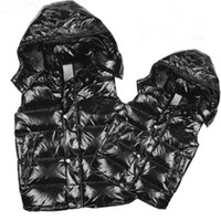 xs kışlık katlar toptan satış-Lüks marka Erkek kadın kış aşağı yelek tüy weskit ceketler womens casual yelekler coat mens aşağı ceket dış giyim artı boyutu: XS-XXXXL