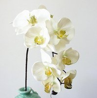 Wholesale fake money for sale - 10Heads big Artificial Orchid Flowers European Retro style Moth Butterfly Orchids Home Wedding Party Decoration fake silk flores