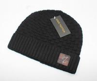 béret en laine derby achat en gros de-Mode Unisexe Printemps Hiver Chapeaux pour hommes femmes tricoté bonnet laine chapeau homme tricot bonnet Polo Bonnet Gorros touca épaissir chaud cap