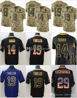 Wholesale 19 lights for sale - Minnesota Stefon Diggs Jerseys Adam Thielen Vikings USA Flag Lights out Black Rush Drift Camo Salute to Service Olive Limited