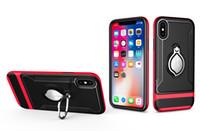 cep telefonu için yüzük toptan satış-Lüks telefon kılıfı şok geçirmez mıknatıs araba tutucu cep telefonu kılıfı kapak için Huawei P20 Pro P20 lite kılıf ile parmak halka standı