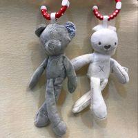 Wholesale baby toys pram - Cute Baby Crib Stroller Toy Bear Soft Plush Toy infant Doll Mobile Bed Pram kid Animal Hanging Ring Baby Sleeping Toy Gift