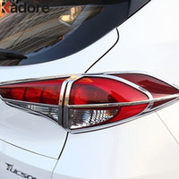 Wholesale Lamp Tucson - ABS Chrome Rear Lamp Cover Trim Frame Car Tail Lamp Cover Tail Light Protector For Hyundai Tucson 2015 2016 2017 Car Accessories