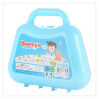 Wholesale kits pretend toys resale online - Play Doctor Kit Medical Toys Pretend Doctor Kit Prentend Play Toys Interesting for Children Blue Green Random allocation Hot Sale