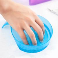 tigela manicure unha venda por atacado-Tigela de manicure Embeber Dedo Ponta de Acrílico Removedor de Tratamento Soaker para DIY Salão de Unhas Spa Tratamento de Banho Ferramentas de Manicure