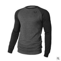 Wholesale crossfit sweatshirt resale online - New Active Men Gyms Long Sleeve Patchwork Hoodies Fitness Bodybuilding Sweatshirt Crossfit Pullover Sportswear Male Workout Jackets