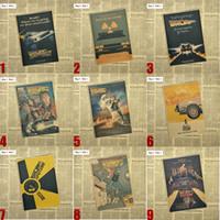 freies vintages plakat großhandel-Zurück zu der Zukunft Klassische Vintage Nostalgischen Film Kraftpapier Poster Innendekoration Kostenloser Versand