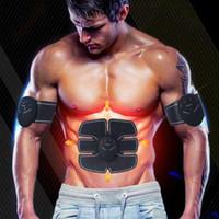 wireless-aufkleber großhandel-Drahtlose Muskelstimulator Smart Fitness Bauchtrainingsgerät Elektrische Gewichtsverlust Aufkleber Body Trainer Slimmerbelt