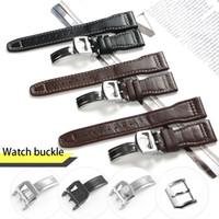 erkekler için büyük deri bilezikler toptan satış-22mm IWC Büyük Pilot İzle için Spor Naylon Deri Adam Su Geçirmez Watch Band Kayışı Watchband Bilezik ile Siyah Mavi Kahverengi Adam Araçları