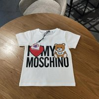 Wholesale Comfortable Baby Girl Clothes - Luxury MO brand Baby Clothes Summer T Shirts Ice porcelain cotton cotton fabric tees, soft and comfortable Kids Clothing tops