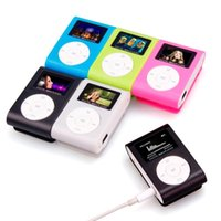 Wholesale mini clip mp3 player for sale - new Top SALE fashion Mini mp3 USB Clip MP3 Player LCD Screen Support GB Micro SD TF CardSlick stylish design Sport Compact