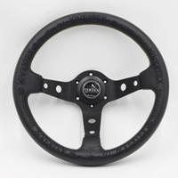 ingrosso cuoio volante da corsa-Nero Vertex corsa 13inch volante 330 millimetri Rally Race volante in pelle Drift Car