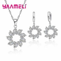 9ee85fa825ed YAAMELI Vogue 925 Sterling Silver Windmill Pendant Necklace and Earring  Jewelry Sets for Women Gifts Birthday Wholesale
