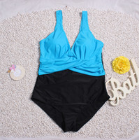 Wholesale hot womens swimwear for sale - Hot Selling Pure Color Spliced Sexy Bikini Womens Swimsuit Summer Swimming Outside Swimwear