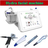 Wholesale diamond ultrasonic - Hydra Dermabrasion Machine 4 In 1 With Ultrasonic BIO Oxygen Microdermabrasion diamond Dermabrasion Hydro Facial Machine