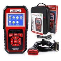 diagnosescanner für kia großhandel-KONNWEI KW850 OBDII OBD2 EOBD Auto Auto Codes Reader Diagnose Scanner Werkzeug 12V mit Kleinkasten UPS DHL-freies Verschiffen