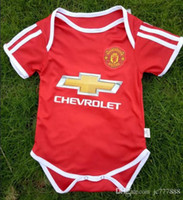 Wholesale famous babies - 17 18 IBRAHIMOVIC baby jersey 1-2 years old Baby jersey POGBA Famous teams Little kid shirt Football Boys Girls Small kit 6-8 month Free DHL