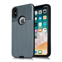 Wholesale Wholesale Hisense - Hybrid Brushed Armor Case For ZTE Blade A6 Dual Layer Protector Cover For ZTE Blade A320 for Hisense F23 F20 Case B