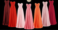 Hot selling Sweetheart Chiffon Country Bridesmaid Dresses Cheap Formal Maid of Honor Backless Beach Custom Made Plus Size Dresses Party Evening In Stock