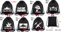 Wholesale wholesale shoe gifts online - Fortnite Royale Battle Cosplay backpack teenager Canvas Drawstring bag students book Shoes Shoulder bags Kids Gift Beach Pouch Pocket ASDFG