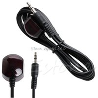 Wholesale ir receiver cable - SIV 38Khz Infrared IR Blaster Remote Control Receiver 3.5mm Extension Cable 1.5m Drop Ship