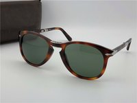 Wholesale Unique White - Persol sunglasses 714 series Italian designer pliot classic style glasses unique shape top quality UV400 protection can be folded style