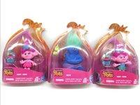 фигурка принцесс оптовых-Новые Cute Troll Dolls Action Figures Игрушечная принцесса Biggie Poppy Branch Critter Skitter Прогулочные коляски Игрушки для детей Подарок