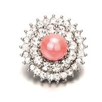 acryl diamant-tasten großhandel-6 Farben Acryl 18 MM Strass Druckknöpfen Diamantknopf für DIY Armbänder Halskette Einladung Schnalle Kleidung Haar Dekor Zubehör