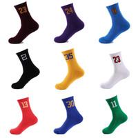 çoraplar damla nakliye toptan satış-Sıkıştırma Çorap Spor Futbol Futbol Spor Koşu Açık Eğitim için Basketbol Çorap Numarası Basketbol Desteği FBA Drop Shipping G500S