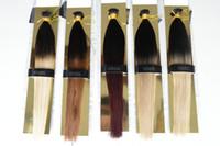 extensiones de cabello grueso ombre al por mayor-XCSUNNY 100g Extensiones de cabello Ombre I Tip Extensiones de cabello Remy Thick 18
