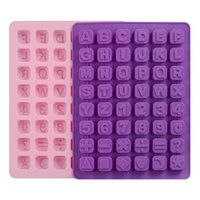 Wholesale alphabet silicone mould - 26 Letters Alphabet Capital Letters Of the Thin Sheet Arabic Numerals Ice Mold Non-toxic Cake Mold Backing Chocolates Mould