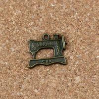 Discount sewing machine necklace - Sewing machine Charms Pendants 100Pcs  lots 20x18mm Antique bronze Alloy ewelry DIY Fit Bracelets Necklace Earrings A-308