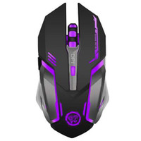 ingrosso desktop dei giocatori-Mouse da gioco wireless ricaricabile 7 colori Backlight Respirazione Comfort Gamer Mouse per computer Desktop PC portatile per Pro Gamer
