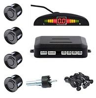 Wholesale Cm Monitoring - 4 Sensors Car LED Parking Sensor Kit Display 12V for Cars Reverse Assistance Backup Radar Monitor System