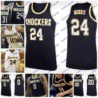 Wholesale bush men - Wichita State Shockers 0 Rashard Kelly 11 Landry Shamet 23 Brycen Bush 24 Shaquille Morris Custom College Basketball Jerseys Any Name Number