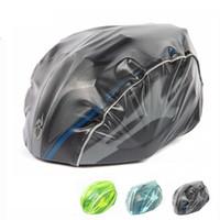 cycling helmet cover NZ - Helment cover Night Visual Waterproof Dust-proof Bike Bicycle Racing Rain Cover Riding Cycling Helmet Cover mulit-color
