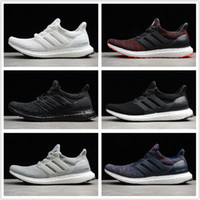 Wholesale grey table runners - Adidas Originals Ultra Boost 4.0 Core Primeknit Runner For Men Women Fashion Ultraboost Running Sneaker Sports Shoes Eur US 5.5-11