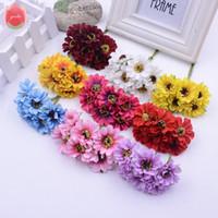 yapay krizantem çiçekler toptan satış-6 adet Ipek Süslü Papatya Yapay Çiçekler Düğün Ev Dekorasyon Için Krizantem Mariage Flores Garland Aksesuarları Çiçekler