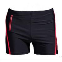 Wholesale pocket boxers - Xl -6xl Plus Size Swimwear Men Swimming Trunks Zipper Pocket Swimsuit Mens Swim Shorts Beach Man Wear Boxer Briefs Bathing Suits