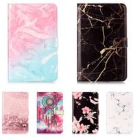 ipad mini cüzdan kasa standı toptan satış-Mermer Tahıl Cüzdan Manyetik Kapak PU Deri Standı Kılıf Kapak Için iPad 234 Hava Mini 9.7 5th Gen