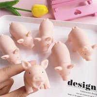 Wholesale plastic toy pigs - 100x60mm Squishy Toy Cute Pig Antistress Ball Squeeze Mochi Rising Toys Abreact Soft Sticky Squishi Stress Relief Toys Funny Gift