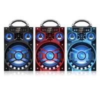 Wholesale big box speakers - MS-188BT Big Bluetooth Sound HiFi Speaker Portable AUX Speakers Wireless Outdoor Music Box Support FM Radio LED Shinning TF Card Volume 20pc